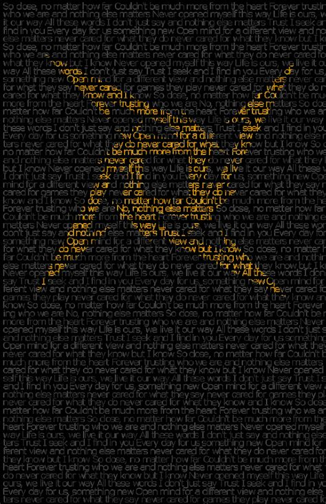 metallica nothing else matter metallica nothing else matters by wle93 on deviantart