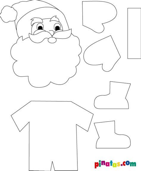 imagenes de santa claus para hacer molde para santa claus de foami