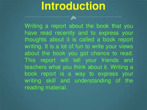 how to write an introduction for a book report book report writing services