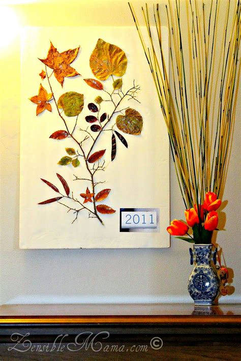 fall wall decor zensible diy fall leaf and tree branch 3d wall