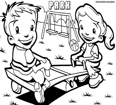 park coloring pages coloring pages to download and print
