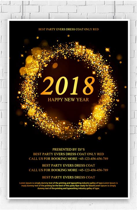 Free 2018 New Year Flyer Psd Template Free Pik Psd Ad Template 2018