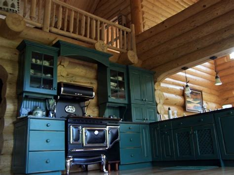 Modern Island Kitchen Designs by Log Cabin Kitchens Archives North Country Cabinets