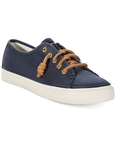 sperry sneakers womens sperry top sider s seacoast canvas sneakers in blue