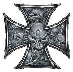 iron cross tattoos meaning grey skull ironcross color decal skull and crossbones