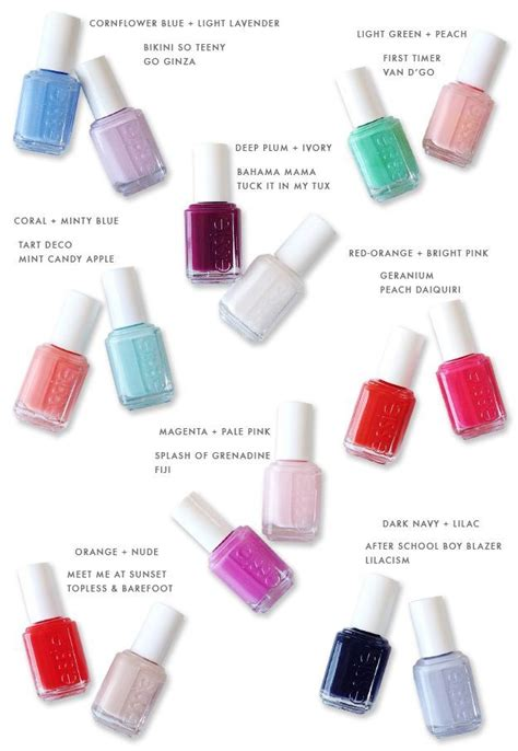 what color finget nail polish for 59 year old spring summer nail polish pairings beauty health