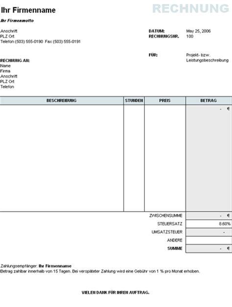 Kostenlose Vorlage Rechnung Word Rechnungen Vorlagen Kostenlos Gif Bilder De