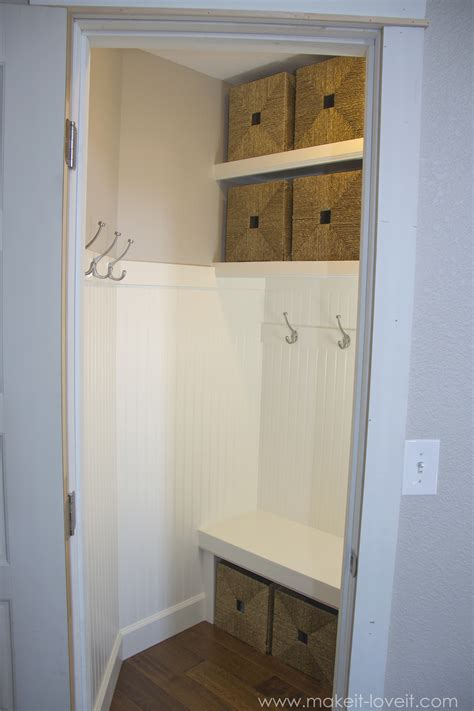 Closet Turned Mudroom by Turn A Coat Closet Into The Mudroom Make It