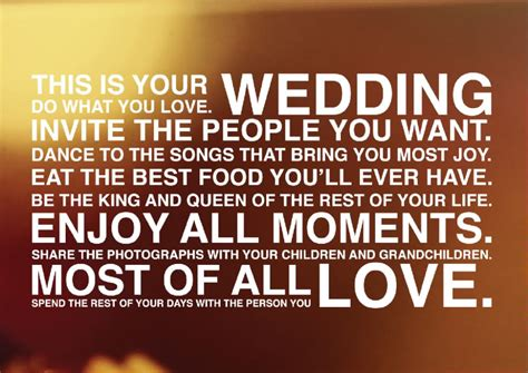 Wedding Quotes For Your by Quotes About Your Wedding Day Quotesgram