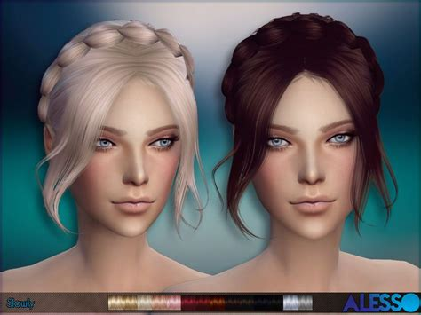 custom hair for sims 4 17 best images about my sims 4 custom content folder