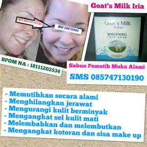Sabun Iria Goat S Milk toko kosmetik alami menjual aneka kosmetik perawatan