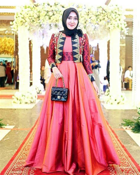 desain gaun batik elegan 17 model baju batik kombinasi polos 2018 desain modis