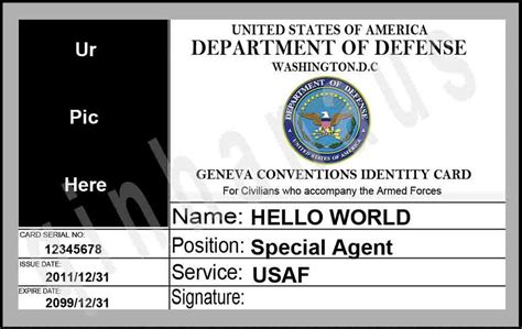 sle id card template us army id card template 28 images id card sle scp