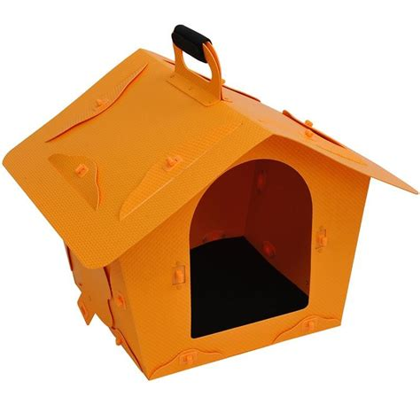 portable dog house pawhut portable dog house yellow