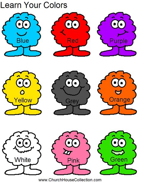 learn your colors for preschool headstart school