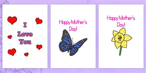 mothers day cards template office mothers day card templates a4 s day blank card