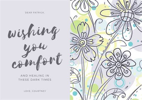 Customize 139 Sympathy Card Templates Online Canva Sympathy Card Template