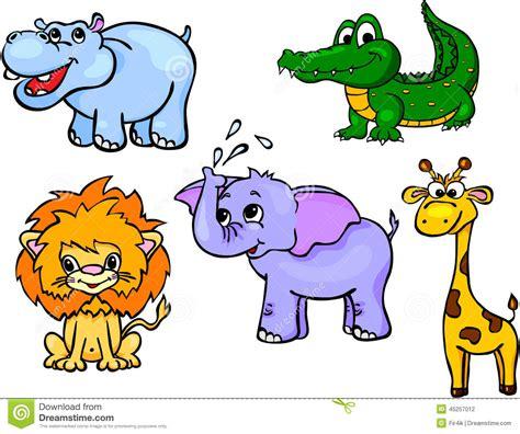 imagenes de animales salvajes para niños sistema salvaje primer de los animales ilustraci 243 n del