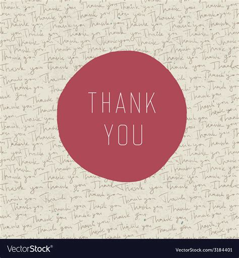 thank you card template free vector thank you card template royalty free vector image