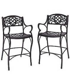 shop allen roth safford set allen roth safford safford brown aluminum barstool chair