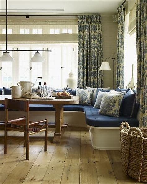 Window Seat Dining Table Window Seat And Dining Table Blue White