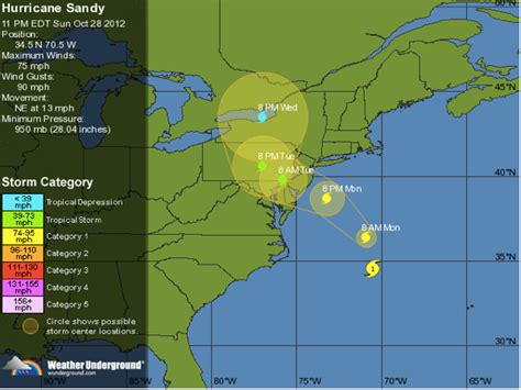 Weather Underground Hurricane Tracking | hurricane sandy nyc update sunday evening oct 28 the