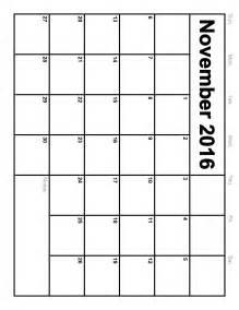 november 2016 calendar printable free calendar 2017