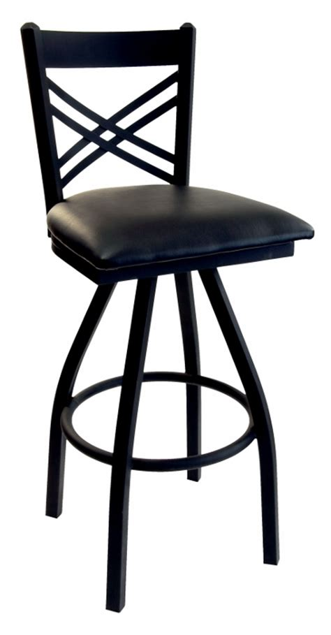 commercial swivel bar stools with backs commercial metal cross back swivel pub stool bar