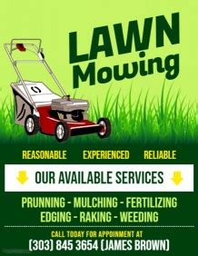 Lawn Mowing Advertising Flyers