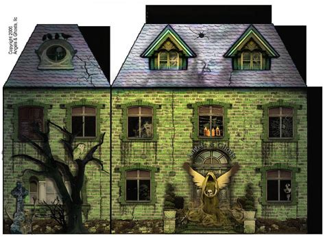 How To Make A Paper Haunted House - haunted house paper model