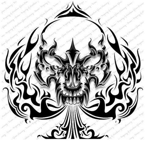 tribal skull tattoo images popular design skull tribal designs