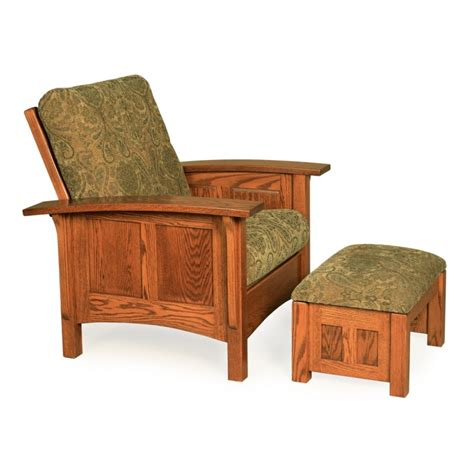 paneled mission morris chair ottoman amish paneled