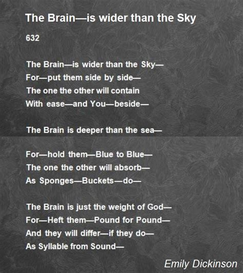 the brain is wider than the sky thinglink the brain is wider than the sky poem by emily dickinson