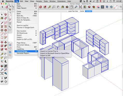 cabinet design software with cutlist cutlist bridge cabwriter