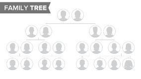 family tree portrait template family tree template vintage vector stock vector