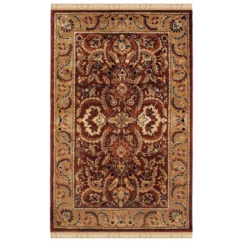 home decor area rugs linon home decor rosedown collection burgundy and gold 8