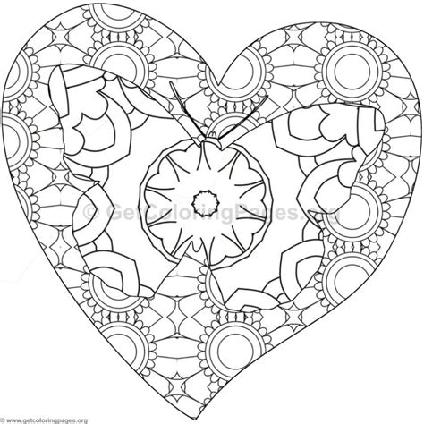 coloring pages of hearts and butterflies butterfly and heart coloring pages 5 getcoloringpages org