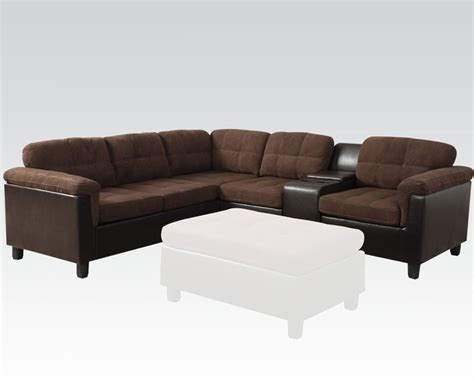 acme sectional sofa acme easy rider reversible sectional sofa cleavon ac51660