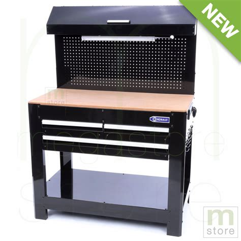 work bench with storage 3 drawer wood work bench garage workbench table tool