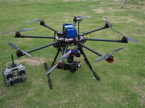 skyhawkrc f900 octocopter frame kit retractable skid uav drone rtf with 3 axis brushless gimbal