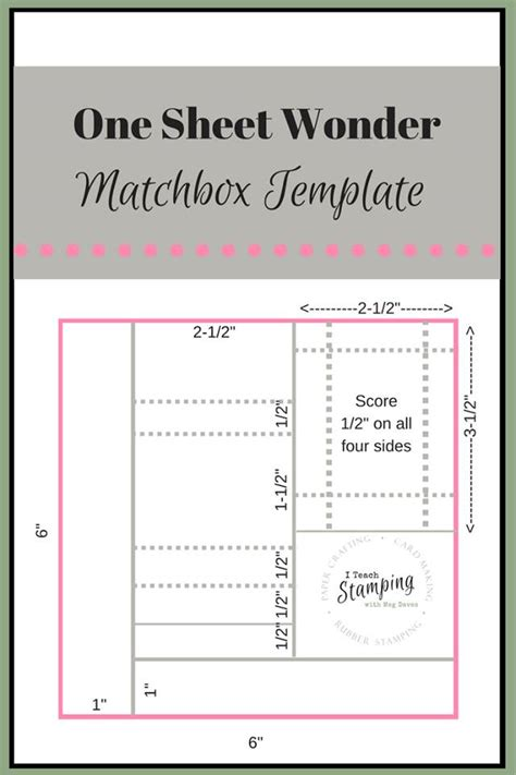 Matchbox Card Template by Free Matchbox Template And Make It I Teach Sting