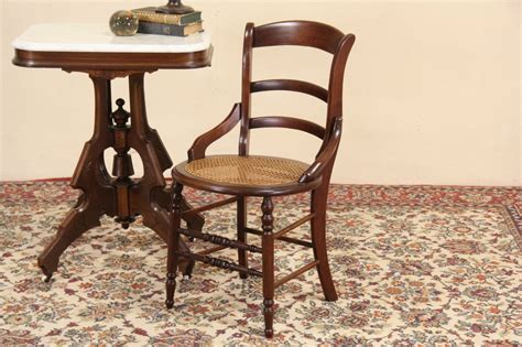SOLD   Victorian Maple 1880 Side or Dining Chair, New Cane