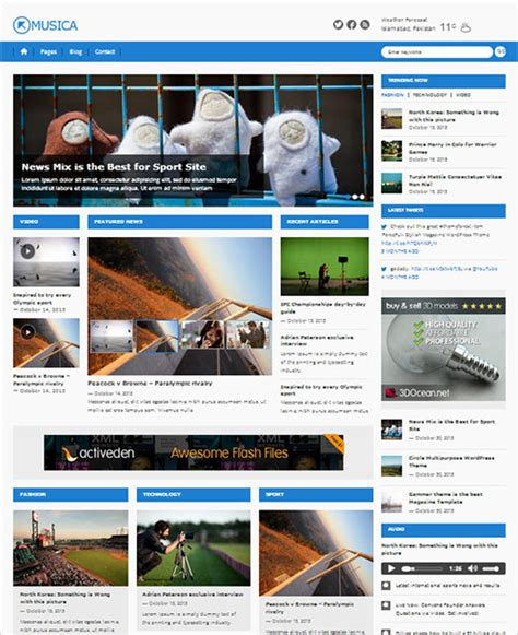 theme newspaper free top 12 best free responsive wordpress themes for 2014