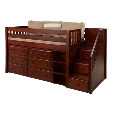 Quot Great 1 Quot Low Loft Bed With Stairs 6 Drawers And Book Case Narrow Bunk Bed