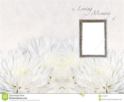 in loving memory templates funeral programme template stock image image 27718871