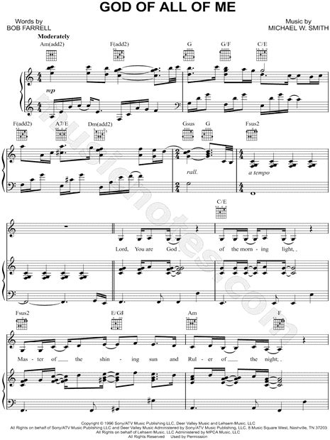 printable lyrics to via dolorosa sandi patty quot god of all of me quot sheet music in a minor