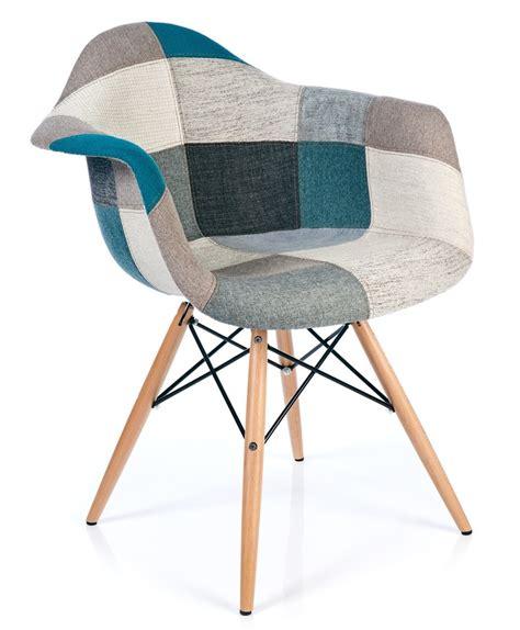chaise patchwork xl style bleu meubles design