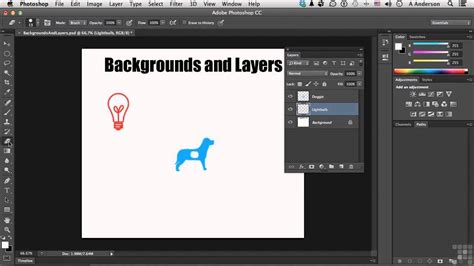 Adobe Photoshop Layers Tutorial Video | adobe photoshop cc tutorial backgrounds and layers youtube