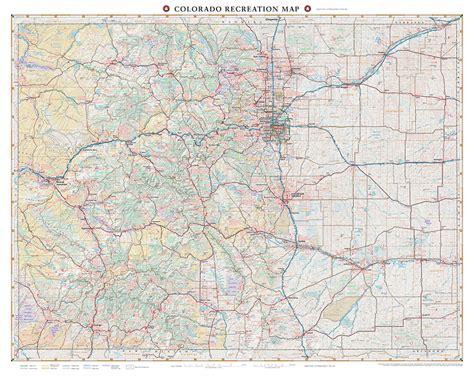 colorado map colorado recreation map benchmark maps