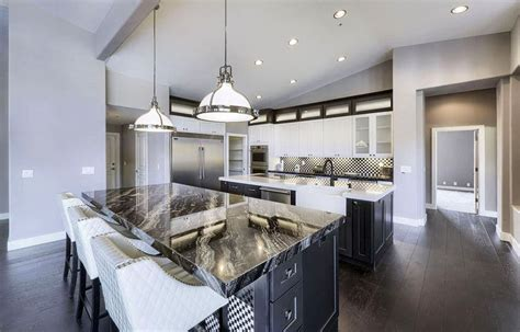 gray floors with hickory cabinets black granite countertops colors styles designing idea